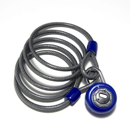 combination: Combination lock and venal covered cable for locking bike