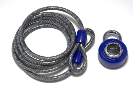 Combination lock and venal covered cable for locking bike