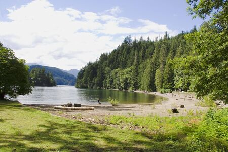 Peaceful lake located in the beautiful Frazier Valley of British Columbia Canada