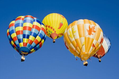 Hot air balloons at Provo Freedom Festival held July 2007 Stock Photo