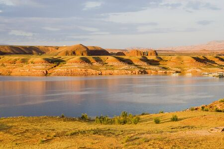 glen: Lake Powell water and desert area in Glen Canyon National Recreation Area Utah