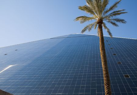 Luxor hotel and casino on the Las Vegas, Nevada strip in the winter