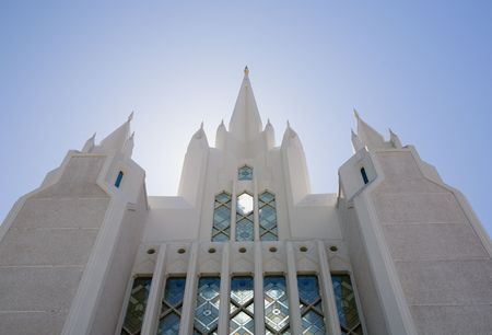 Temple of The Church of  Christ of Latter-Day Saints (LDS) or Mormons in San Diego, California Stock Photo