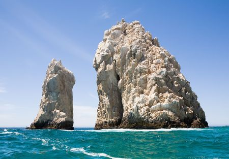 turbulent: Lands End rock formations at the very end of the Baja peninsula near Cabo San Lucas, Mexico