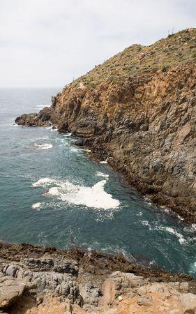 orificio nasal: El orificio de La Bufadora en Ensenada, Baja California, Mexico que lanza agua hasta 70 pies en el aire.
