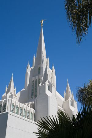 lds: Temple of The Church of  Christ of Latter-Day Saints (LDS) or Mormons in San Diego, California Stock Photo