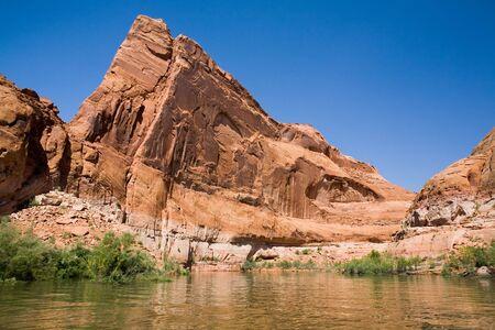 lake powell: Beautiful rock formation at Lake Powell in Glen Canyon National Recreation Area, Utah
