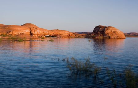 glen: Beautiful rock formation at Lake Powell in Glen Canyon National Recreation Area, Utah
