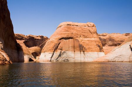 lake powell: Beautiful rock formation at Lake Powell in Glen Canyon National Recreation Area, Utah