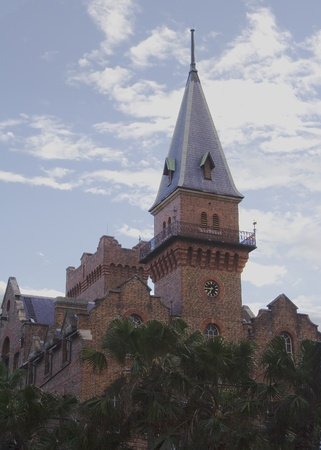 시드니, 뉴 사우스 웨일즈, 호주의 록스 섹션에서 역사적인 시계 타워 건물