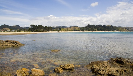 Peaceful beach on the on the Coromandel peninsula of the North Island of New Zealand