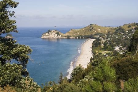Hahei Beach and surrounding area on the Coromandel  peninsula in New Zealand