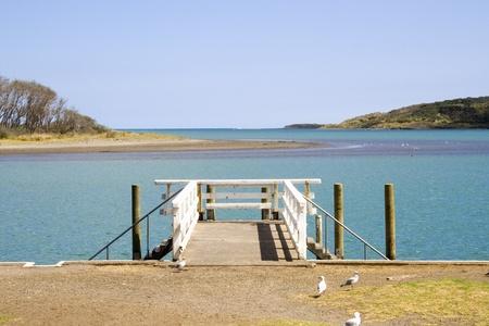 peer to peer: Pares en Raglan puerto (puerto) la isla norte de Nueva Zelanda