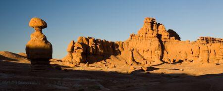 hoodoo: Hoodoo rock formations in Goblin Valley State Park in the Southern desert of Utah