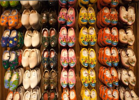 Handcrafted Dutch wooden shoes made at Kinderdijk in The Netherlands photo