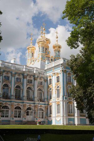 푸쉬킨 상트 페테르부르크, 러시아에서 캐서린 대왕을 위해 지어진 아름다운 궁전 에디토리얼