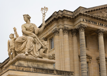 Sculpture on the grounds of the palace of Versailles in Paris, France.