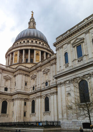 st pauls: Side view of the dome of St. Pauls Cathedral in London, England