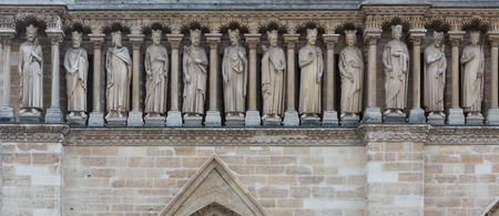 Freize on the facade of Notre Dame in Paris, France. Stock Photo - 28257709