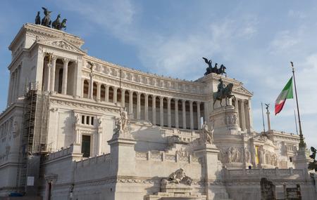 Italiaanse Parlement gebouw in Rome, Italië op een zonnige dag. Stockfoto