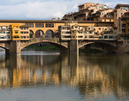 Ponte Vecchio bridge in Florence, Italy on a sunny day. Stock Photo
