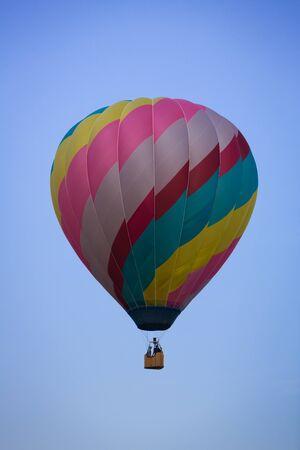 diagonal stripes: Multicolor Diagonal Stripes Hot Air Balloon