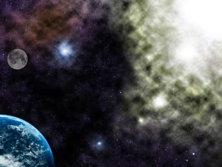 Space fantasy illustration.