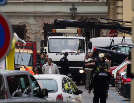 suspected: Suspected gas explosion injures dozens in central Prague  Powerful blast near National Theatre in centre of Prague leaves up to 40 people injured and building damaged  Editorial