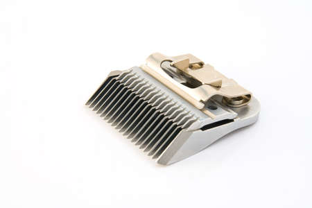 shorten: Clipper blade perfectly isolated over white background