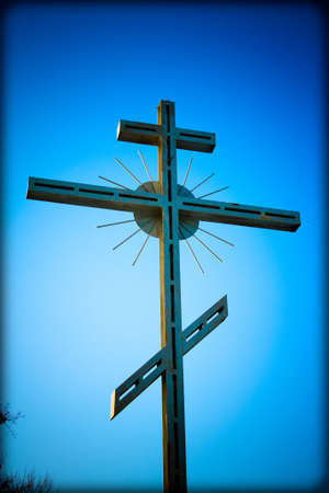 ecclesiastical: Iron Cross on sky background