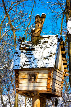 holey: Baba Yaga on the holey roof huts with legs