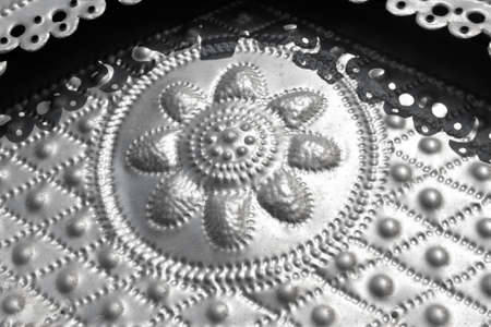 Metal stamping as a background Stock Photo