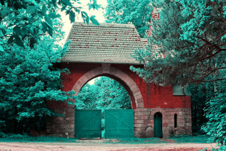 dichromatic: Ancient gate in old park