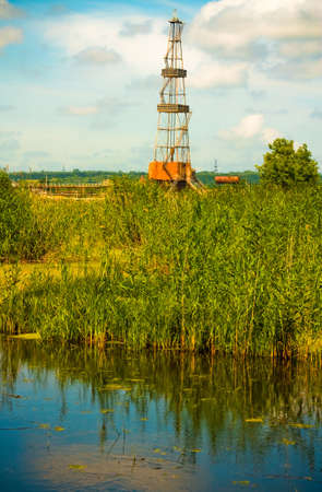 Drilling rig in the natural landscape