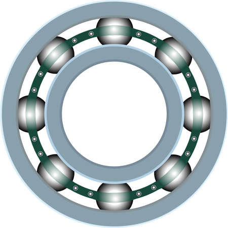 car spare parts: Classic ball bearing Illustration