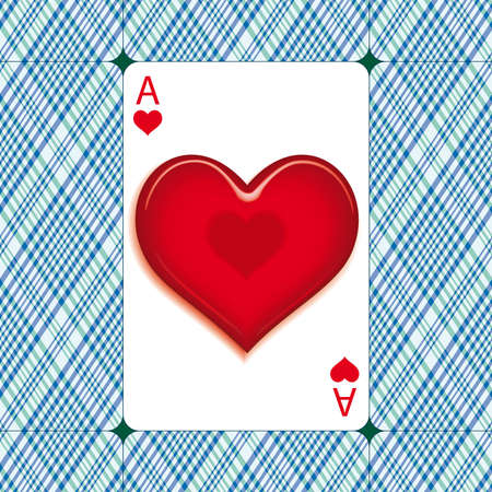 Heart on the Ace of heart's for the Valentine's day cards Stock Photo - 6911194