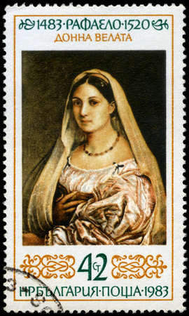 BULGARIA - CIRCA 1983: A Stamp shows Raphael's Art