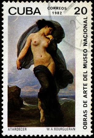 CUBA - CIRCA 1982: A Stamp shows the Art of W.A.Bourgueran, circa 1982 Stock Photo - 7242272