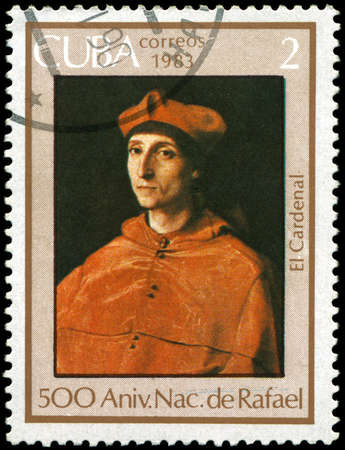 CUBA - CIRCA 1983: A Stamp shows Raphael's painting