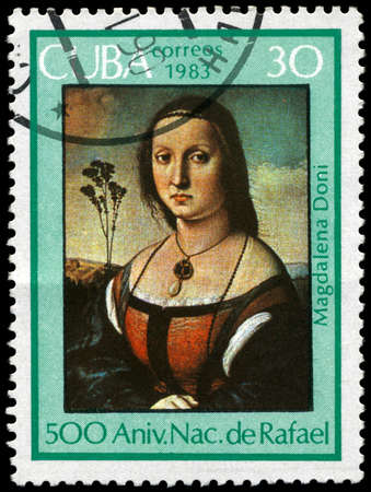 CUBA - CIRCA 1983: A Stamp shows Raphael's Art