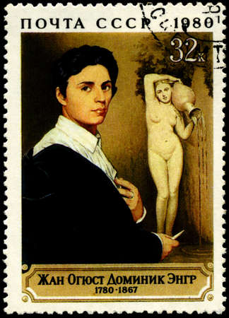 USSR - CIRCA 1980: The Stamp dedicated to french painter Ingres, circa 1980 Stock Photo - 7242271