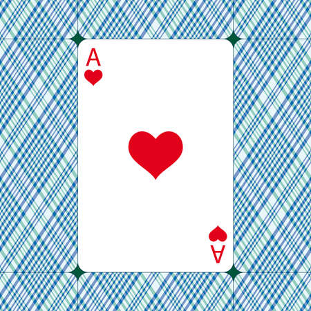 Ace of hearts for the Valentine's day design Stock Photo - 7311345