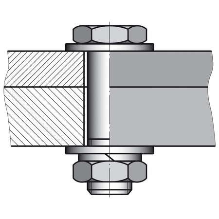 tuercas y tornillos: Redacción de esbozo de una conexión de tornillo