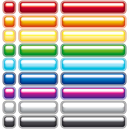 A set of colored buttons for Web Design - blend only. All objects fully editable and are on separate layers Stock Vector - 7311353