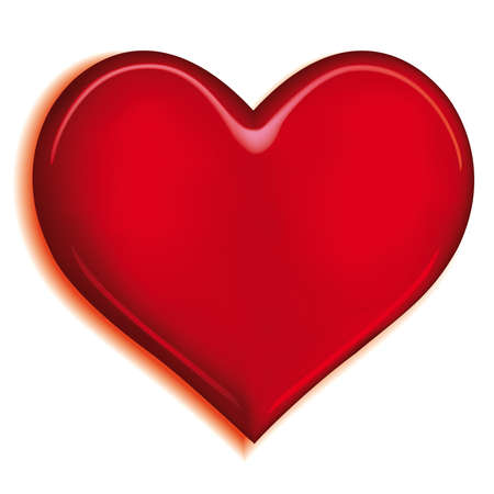 Stylized valentine heart on white background Stock Vector - 7326118