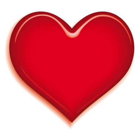 Stylized valentine heart on white background Vector
