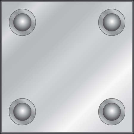 hardness: Metal plate with rivets Illustration