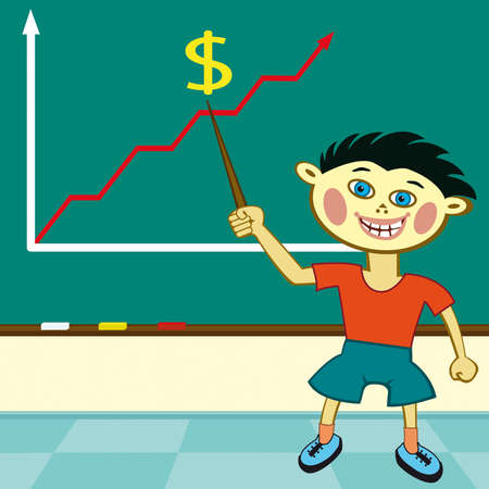 acquirement: Young pupil studying business Illustration
