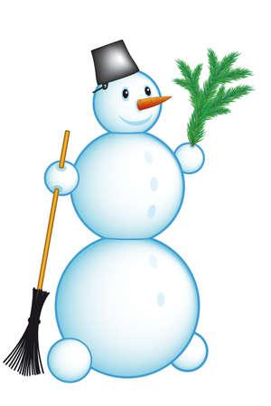 Festive snowman for vector design Stock Vector - 7326115
