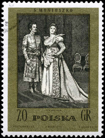 POLAND - CIRCA 1982: A Stamp printed in POLAND shows the The Countess, from the series Scenes from Operas or Ballets by Moniuszko, circa 1982 photo